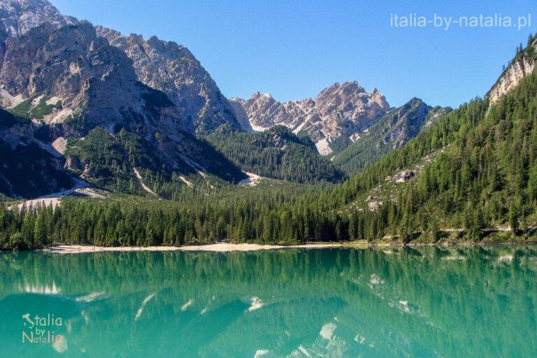 Jezioro Braies Południowy Tyrol Włochy najpiękniejsze jezioro w Dolomitach
