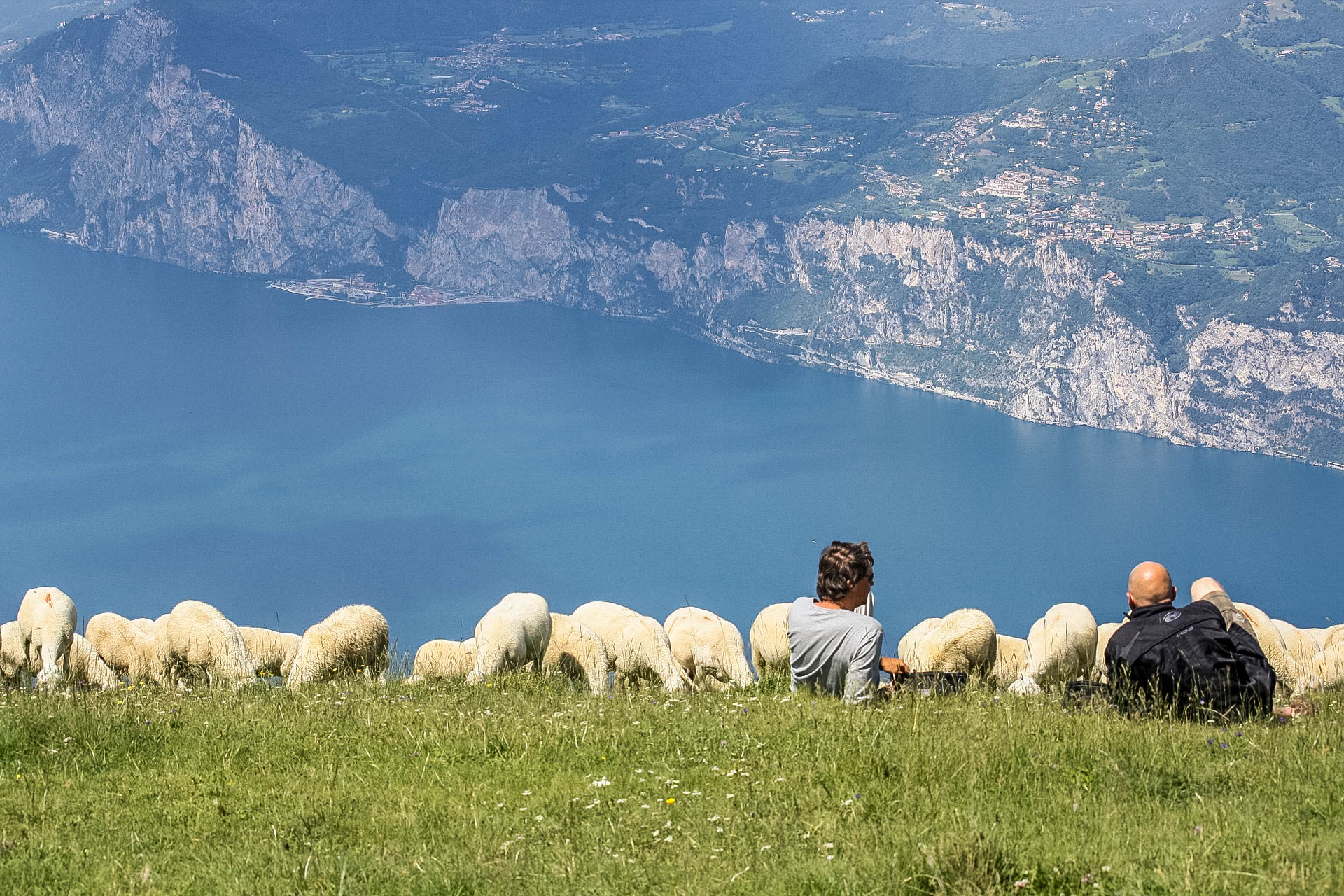 Monte Baldo alpejskie łąki z widokiem na Jezioro Garda