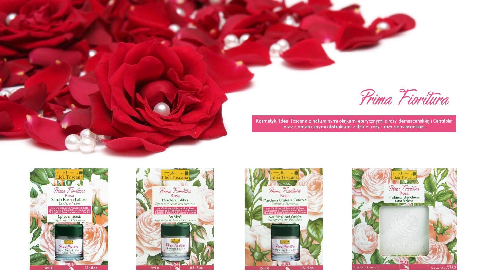 kosmetyki naturalne Idea Toscana Prima Fioritura Rosa z różą