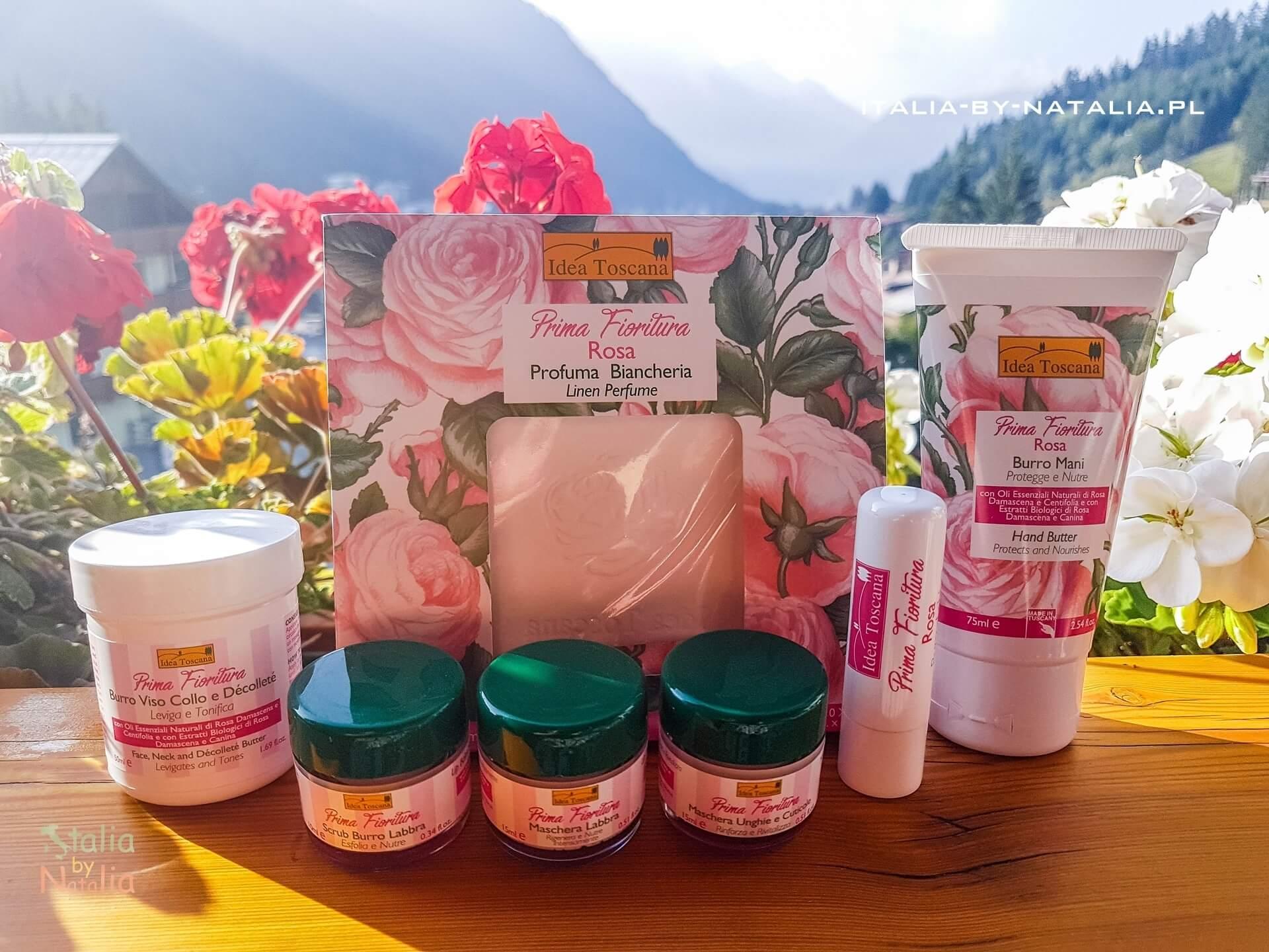 Idea Toscana prima fioritura rosa kosmetyki naturalne z różą