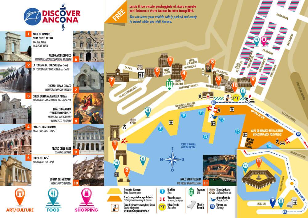 Ankona Ancona Wybrzeże Adriatyckie Włochy co zobaczyć Gdzie zjeść Gdzie spać mapa