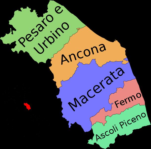 Ankona Marche mapa