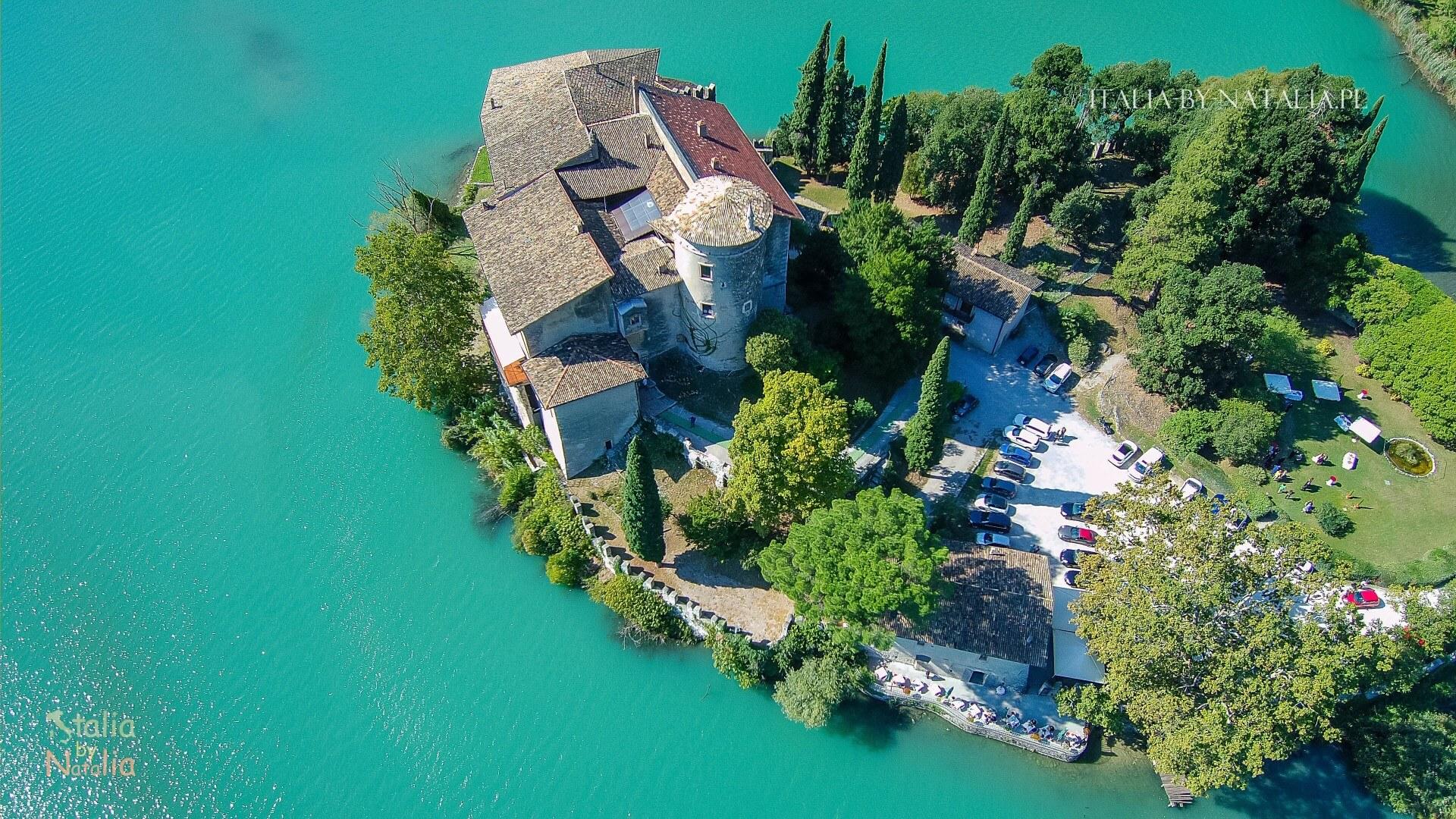 Jezioro Toblino Santa Massenza wycieczka na północ od Garda lake toblino Santa Massenza