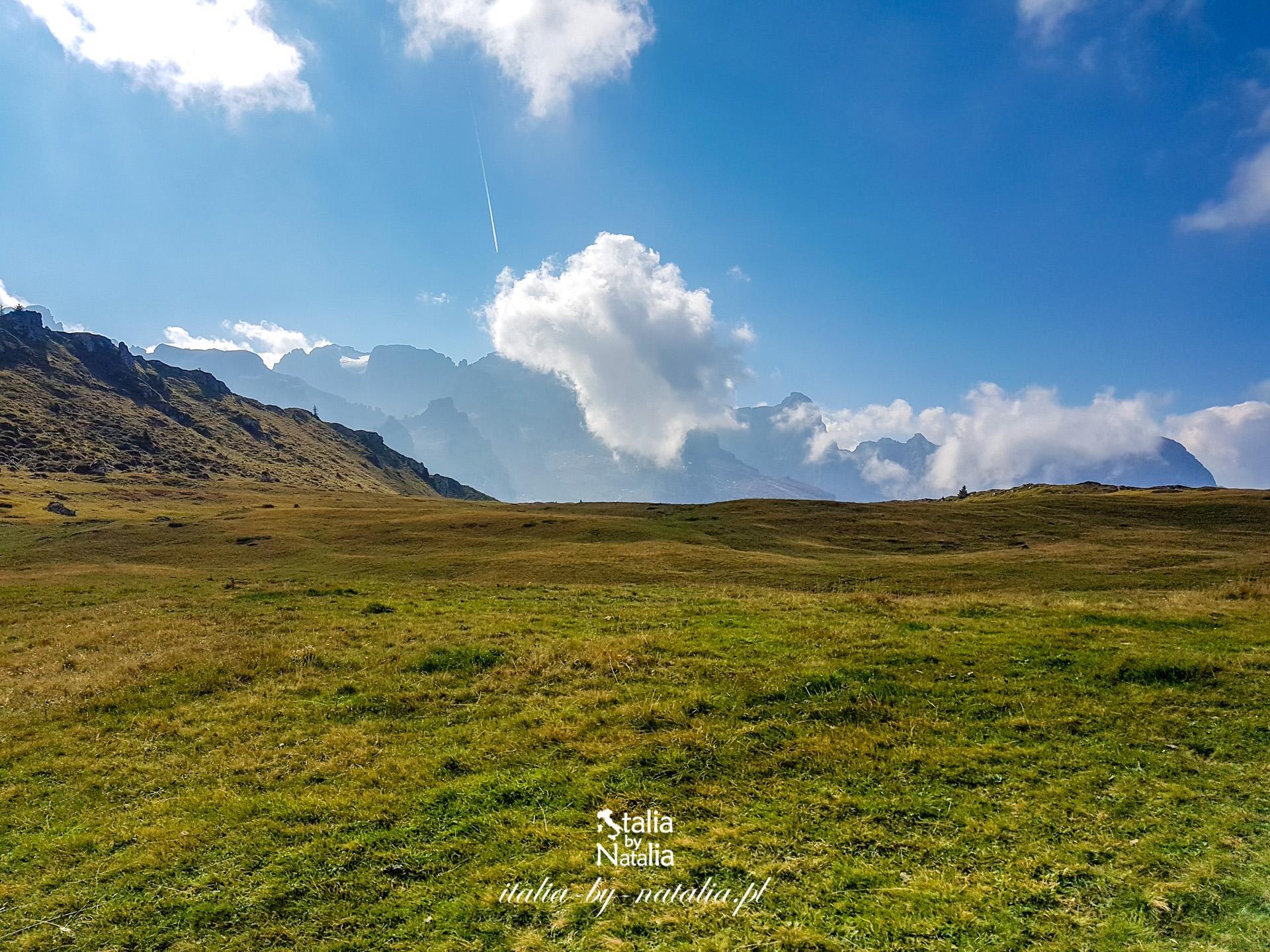 Łatwy szlak w Madonna di Campiglio Dolomity Groste Lago Spinale Monte Spinale Chalet Fiat mapa
