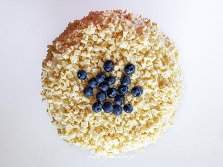 Tort mimoza (torta mimosa) lekkie i delikatne ciasto włoskie na Dzień Kobiet przepis