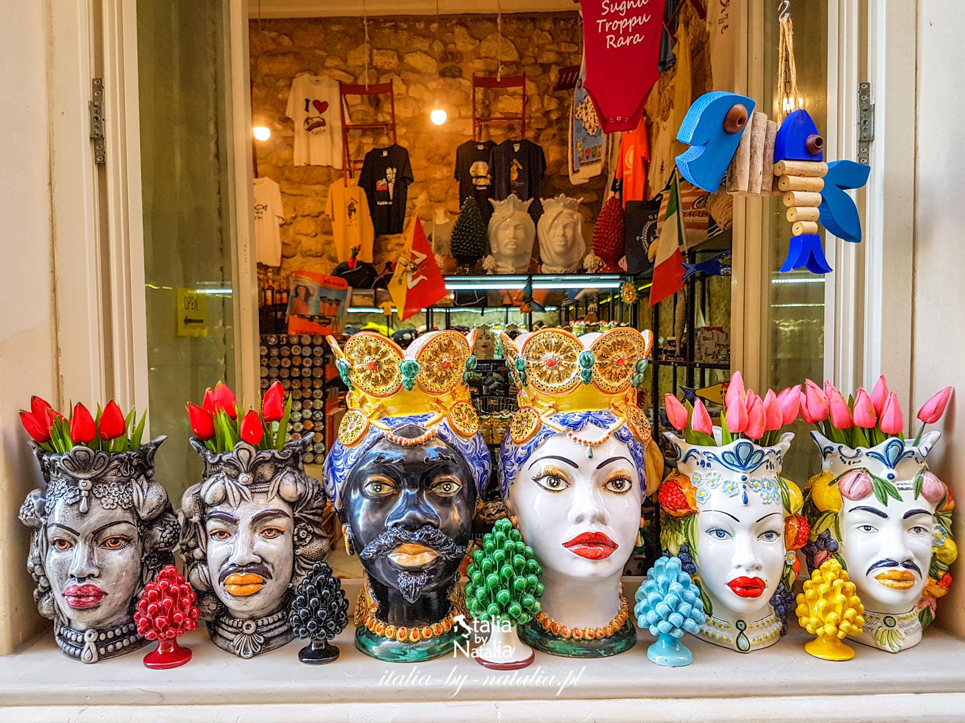 Testa di Moro sycylijskie głowy z ręcznie malowanej ceramiki