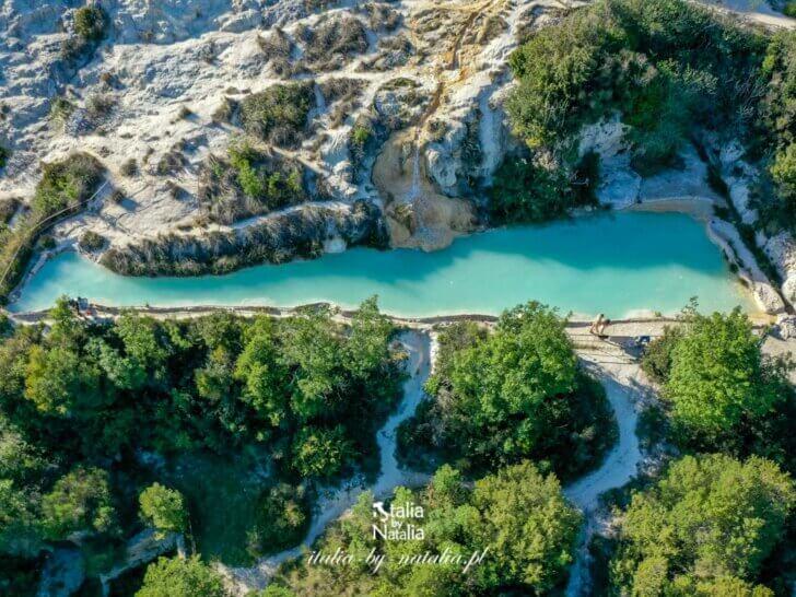 Bagno Vignoni - rzymskie termy w dolinie Val d'Orcia, Toskania